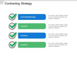Contracting Strategy Ppt Powerpoint Presentation Gallery Model Cpb