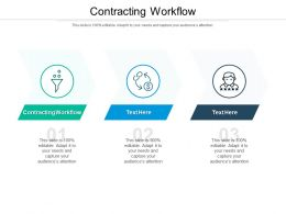 Contracting Workflow Ppt Powerpoint Presentation Deck Cpb