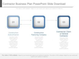 Contractor Business Plan Powerpoint Slide Download