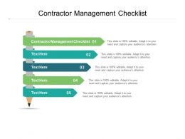 Contractor Management Checklist Ppt Powerpoint Presentation Portfolio Designs Cpb