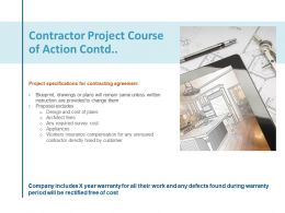 Contractor Project Course Of Action Contd Planning Ppt Powerpoint Presentation Inspiration