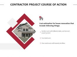 Contractor Project Course Of Action Ppt Powerpoint Slides