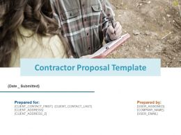 Contractor Proposal Template Planning Ppt Powerpoint Presentation Slides Sample