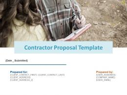 Contractor Proposal Template Powerpoint Presentation Slides