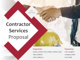 Contractor Services Proposal Powerpoint Presentation Slides