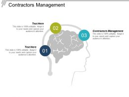 Contractors Management Ppt Powerpoint Presentation Infographic Template Outline Cpb