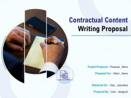 Contractual Content Writing Proposal Powerpoint Presentation Slides