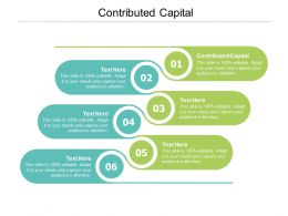 Contributed Capital Ppt Powerpoint Presentation Professional Clipart Cpb