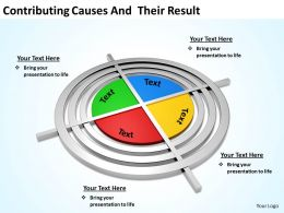 contributing causes and  their result powerpoint diagram templates graphics 712