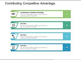 Contributing Competitive Advantage Ppt Powerpoint Presentation Portfolio Graphics Cpb