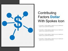 Contributing Factors Dollar With Spokes Icon
