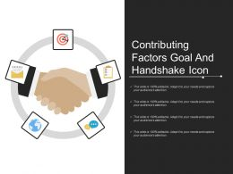 Contributing Factors Goal And Handshake Icon