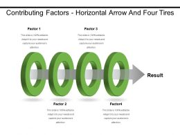 Contributing Factors Horizontal Arrow And Four Tires