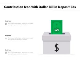 Contribution Icon With Dollar Bill In Deposit Box
