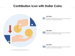 Contribution Icon With Dollar Coins