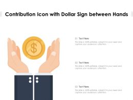Contribution Icon With Dollar Sign Between Hands