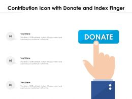 Contribution Icon With Donate And Index Finger