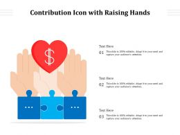 Contribution Icon With Raising Hands