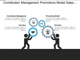 Contribution Management Promotions Model Sales Channel Partner Cpb