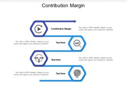 Contribution Margin Ppt Powerpoint Presentation Icon Background Designs Cpb