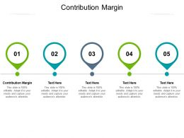 Contribution Margin Ppt Powerpoint Presentation Infographics Graphics Cpb