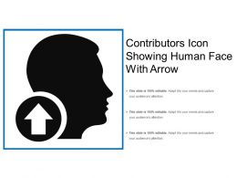 Contributors Icon Showing Human Face With Arrow
