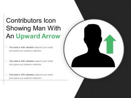 Contributors Icon Showing Man With An Upward Arrow