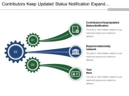 Contributors Keep Updated Status Notification Expand Relationship Network