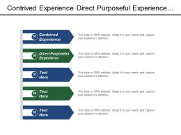Contrived Experience Direct Purposeful Experience Degree Difficulty Level Differentiation