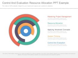 Control And Evaluation Resource Allocation Ppt Example