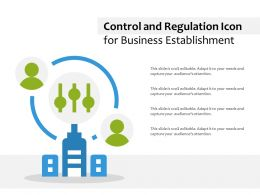 Control And Regulation Icon For Business Establishment