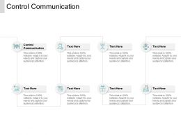 Control Communication Ppt Powerpoint Presentation Professional Topics Cpb