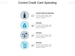 Control Credit Card Spending Ppt Powerpoint Presentation Summary Graphics Pictures Cpb