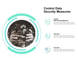 Control Data Security Measures Ppt Powerpoint Presentation Infographics Example Cpb