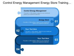 Control Energy Management Energy Store Training Access Finance