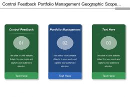 Control Feedback Portfolio Management Geographic Scope Market Positioning
