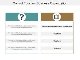 Control Function Business Organization Ppt Powerpoint Presentation Pictures Influencers Cpb