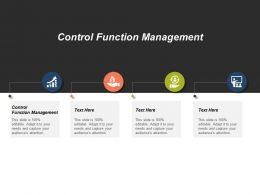 Control Function Management Ppt Powerpoint Presentation Model Layouts Cpb
