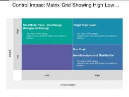 Control Impact Matrix Grid Showing High Low Impact