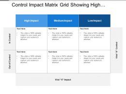 Control Impact Matrix Grid Showing High Medium Impact