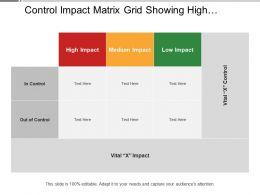Control Impact Matrix Grid Showing High Medium Low Impact