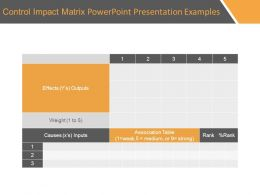 Control Impact Matrix Powerpoint Presentation Examples