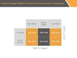 Control Impact Matrix Powerpoint Presentation Templates
