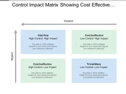 Control Impact Matrix Showing Cost Effective Impact