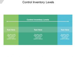 Control Inventory Levels Ppt Powerpoint Presentation Infographic Slide Cpb