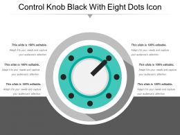 Control Knob Black With Eight Dots Icon
