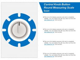 Control Knob Button Round Measuring Scale Icon