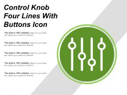 Control Knob Four Lines With Buttons Icon