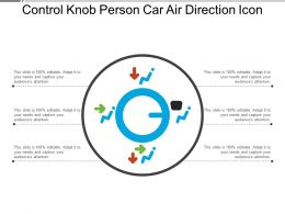 Control Knob Person Car Air Direction Icon