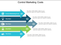 Control Marketing Costs Ppt Powerpoint Presentation Icon Backgrounds Cpb